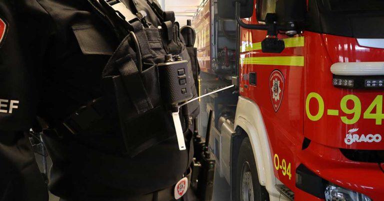 rfid utstyr uniform og brannbil