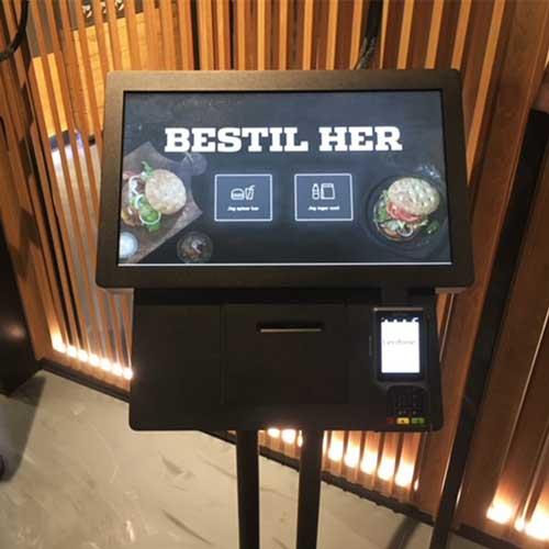 kiosk på restaurant