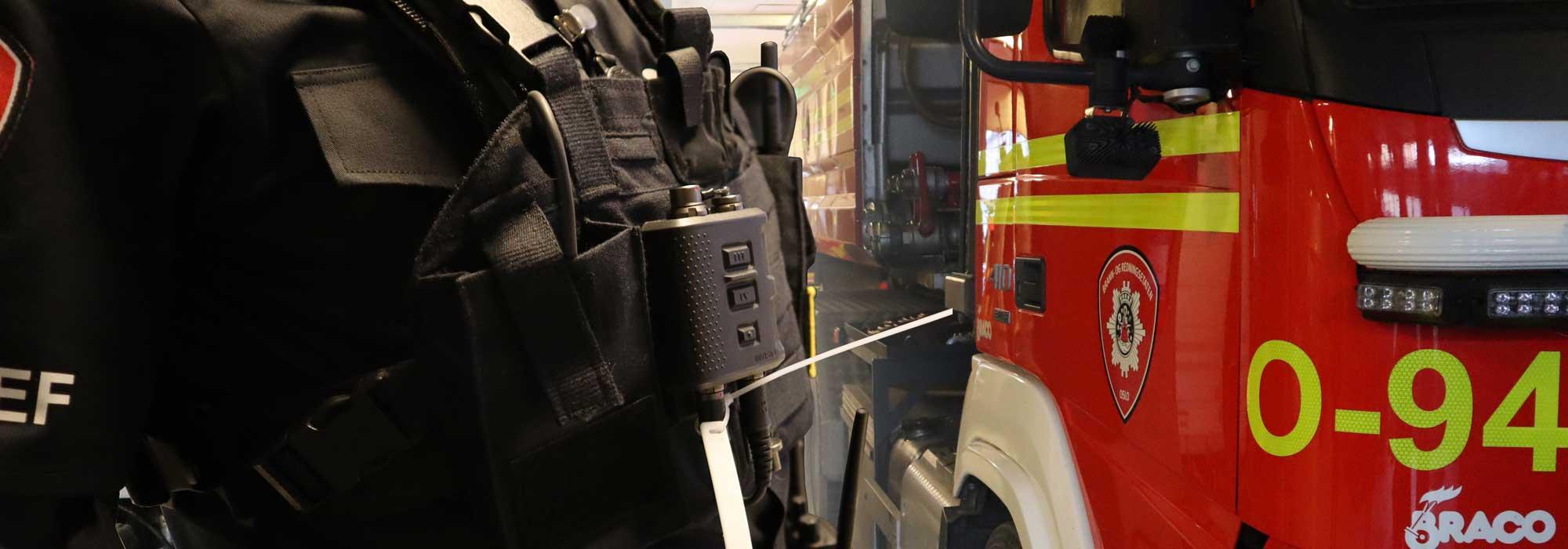 rfid utstyr brannuniform brannbil